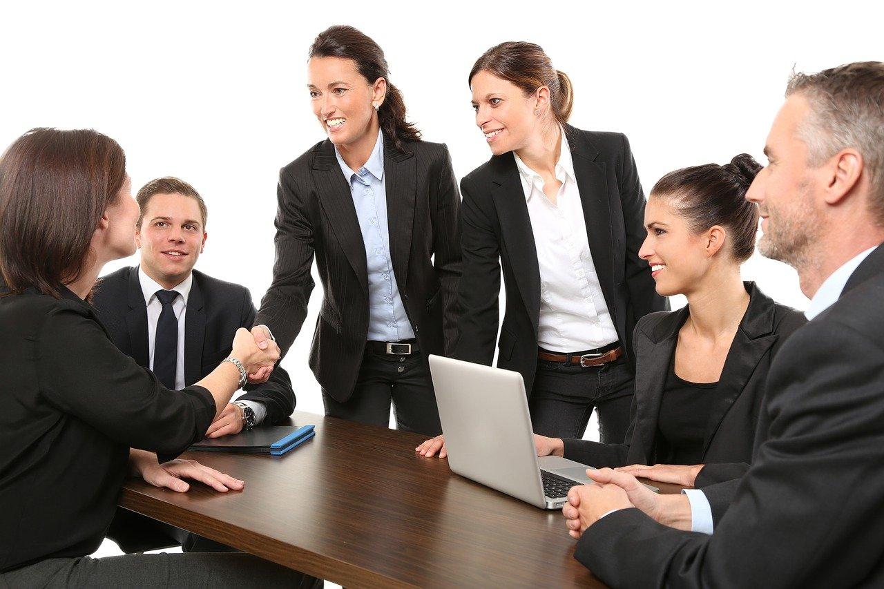 men, employees, suit
